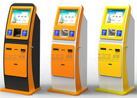 17 Inch Pinpad Self Service ATM Bill Payment Kiosk Machine Yellow Color