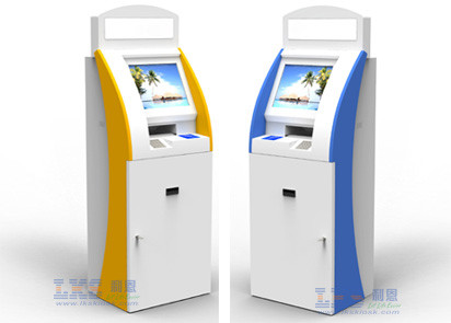 Thermal Printer Self Service Kiosk Touchscreen With Cash Payment Coin Acceptor