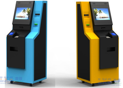 Free Floor Standing Bank ATM Kiosk , Automated Teller Machine With Cash Dispenser